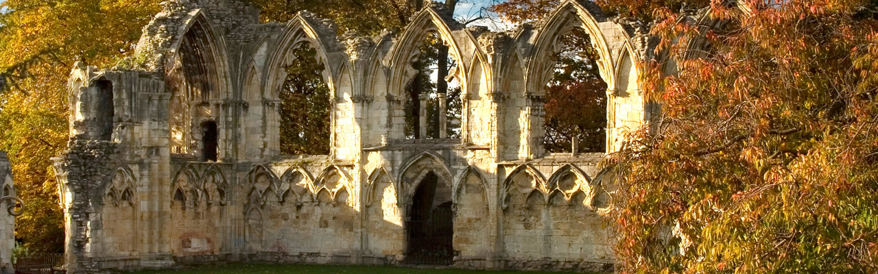 St Mary's Abbey in the Autumn