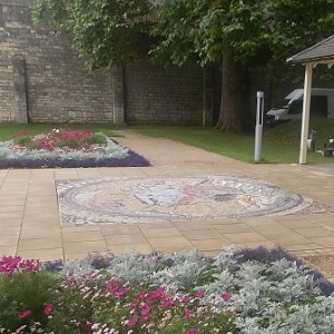 The finished mosaic map, installed in 2015.