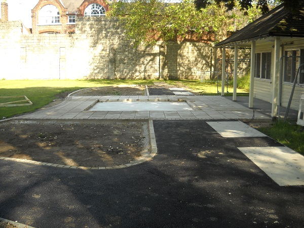 The site being prepared for the new mosaic.
